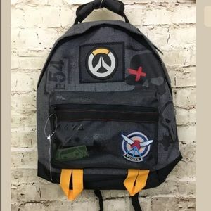 Overwatch Characters Patches Distressed Backpack